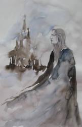 Severus Snape - Winter Mist of Hogwarts by Cassiuseos