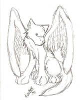 winged wolf by lunarhowl