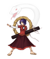 AWA Touhou Scroll Kanako by GraphyteRonin