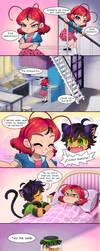 Venganza Comic Plagg y Tikki by NancySauria