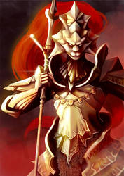 Dragon Slayer Ornstein by Paper-Plate