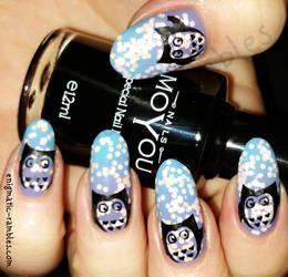 Owl Nails by EnigmaticRambles