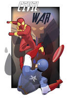 Spider-Man vs Captain America by ProjectCornDog