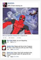 Deadpool Posts Selfie To Facebook by ProjectCornDog