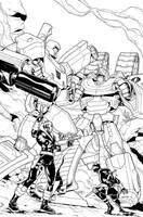 Transformers vs. G.I. Joe Vol. 2, Cover, Inks by brendancahill