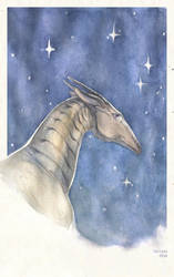Creature of stars by faliessDragon