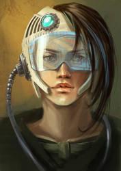 Retro futuristic girl by 1Ver4ik1