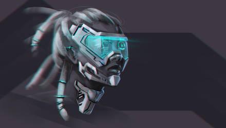 Female cyborg by 1Ver4ik1