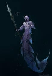Undersea creature - Merman by Luk999