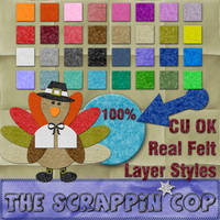 Real Felt Layer Styles by debh945