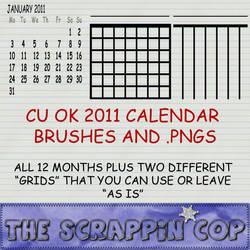 2011 Calendar Brushes by debh945