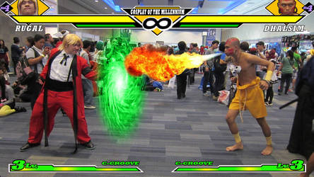 Rugal vs. Dhalsim by TheALVINtaker