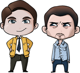 Dirk Gently Chibi's by mfellinger