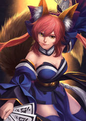 Tamamo no Mae by Luches