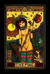 Aesthetic Beautiful Girls Tarot 0 The Fool by sawsin