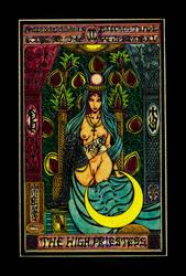 Aesthetic Beautiful Girls Tarot2 The Highpriestess by sawsin
