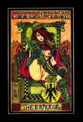 Aesthetic Beautiful Girls Tarot 4 The Emperor by sawsin