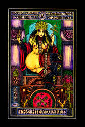 Aesthetic Beautiful Girls Tarot 5 The Hierophant by sawsin