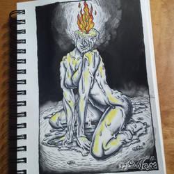 Inktober Day 12: 'Wax' by Sammirureka
