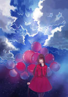 Red Balloons by hiruna454