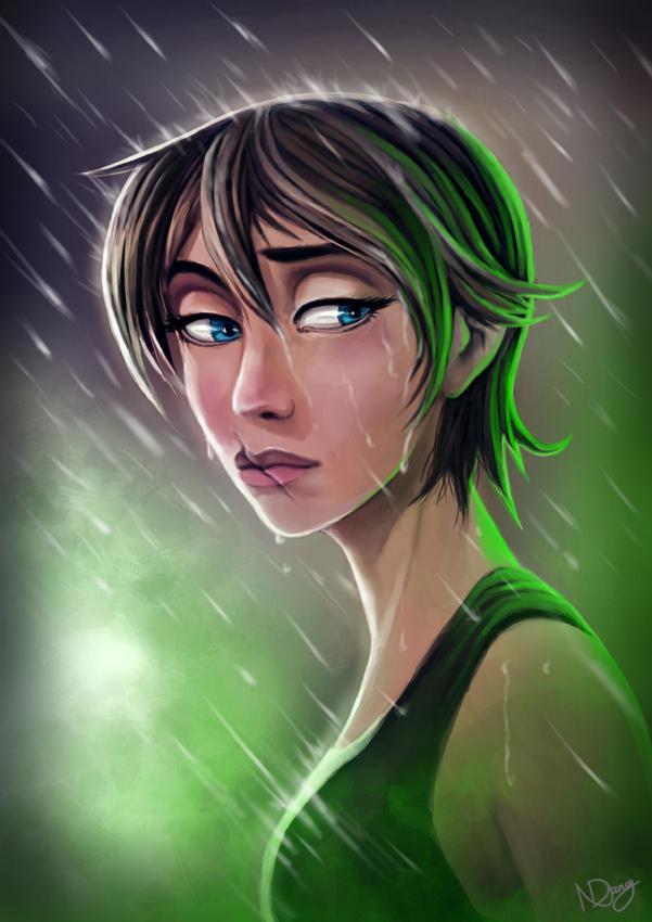 In the Rain by Natashane