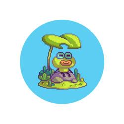 Frog-pixel by tom-monster