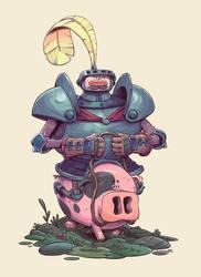Hog Knight by tom-monster