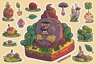 Mole and poop by tom-monster