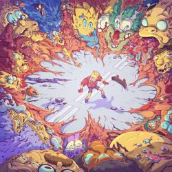 Bartkira - Springfield Nightmare by tom-monster