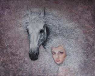 Daenerys Targaryen and the silver by EvaGataArtist