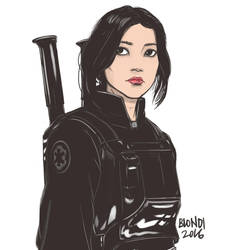 Jyn Erso - Rogue One Fanart by B-on-D