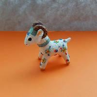 Figurine sheep of modelling clay,ram sculpture by koshka741