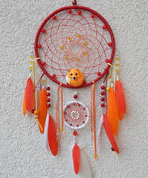 handmade dream catcher with fox by koshka741