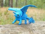 Blue Toothless Night Fury by koshka741
