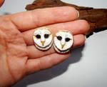 Barn owl earrings by koshka741