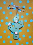Pastel Cactus Ornament by CrimsonsCreations