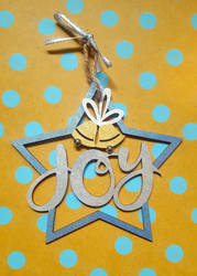Joy and Bells Ornament by CrimsonsCreations