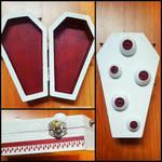 Albino Monster Coffin Box by CrimsonsCreations
