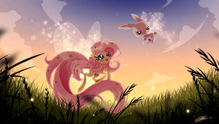 Fluttershy love being a breezie by CKibe