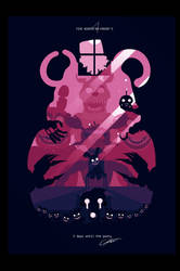 POSTER - Five nights at Freddy's 4 (PINK) by CKibe