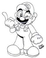 Super Mario by Beau-Skunk