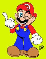 Super Mario Color by Beau-Skunk