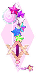 Steven universe keyblade by AngeliccMadness