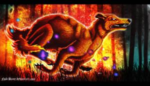 Fire Hound by Noktist