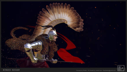 Winged Hussar -3D by leticiakao
