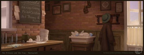 Princess and the frog - 3D environment by leticiakao