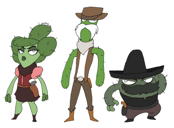 The Cacti Bandits by that-one-guy-again