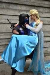 Sub-Zero and Elsa by MrAldenRD05