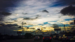 houston sunset by yabbles