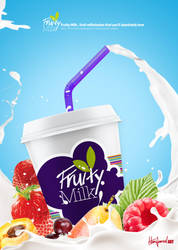 Fruity Milk Juice Ad. by hanymania